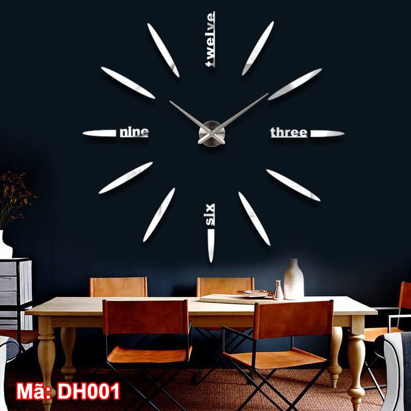 đồng hồ dán tường cỡ đại