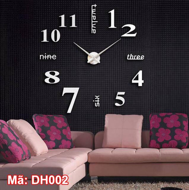 Đồng hồ dán tường mã DH002