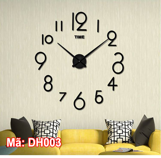Đồng hồ dán tường mã DH003