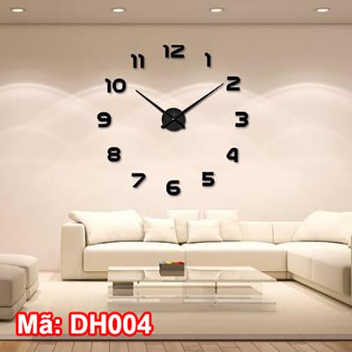 đồng hồ dán tường đường kính to