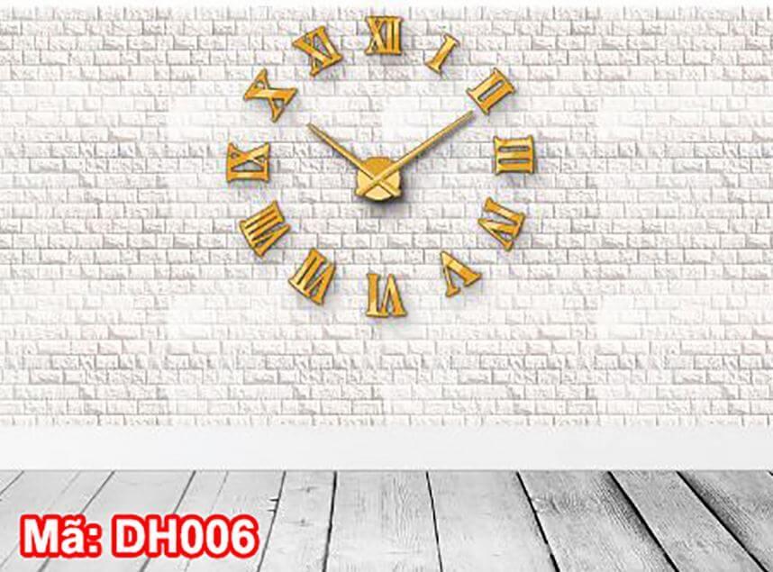 Đồng hồ dán tường DH006 vàng