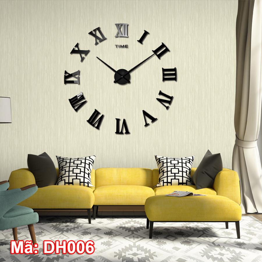 Đồng hồ dán tường mã DH006