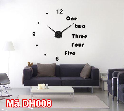 Đồng hồ dán tường mã DH008