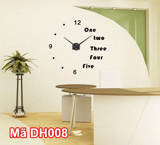 Lắp đồng hồ dán tường tại phòng làm việc