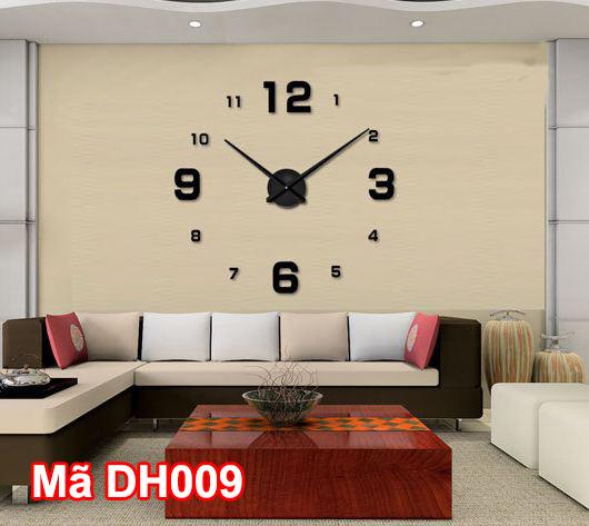 Đồng hồ dán tường mã DH009