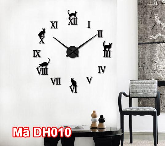 Đồng hồ dán tường mã DH010