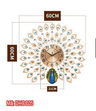 Kích thước đồng hồ con công