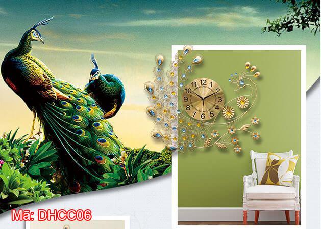 Mẫu đồng hồ treo tường chim công