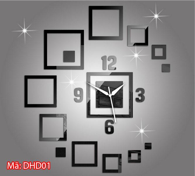 Đồng hồ dán tường mã DHD01