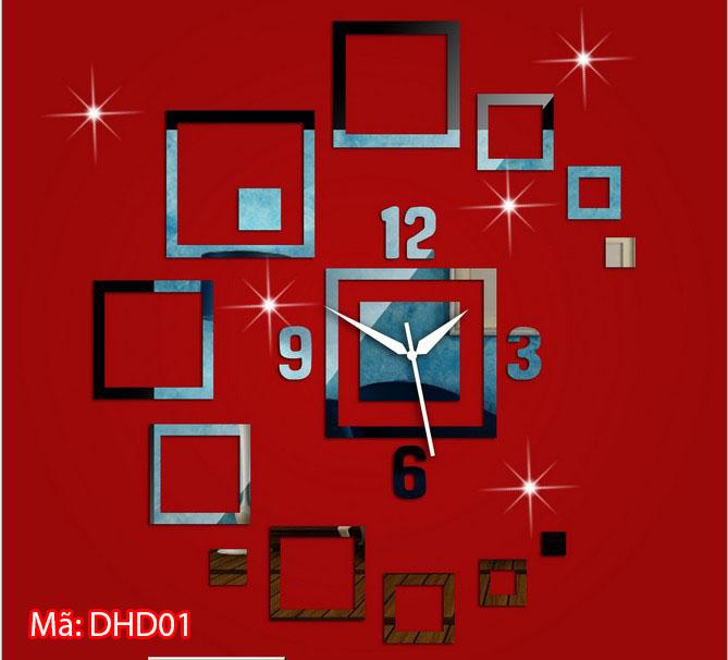 Đồng hồ dán tường cỡ nhỏ mã DHD01