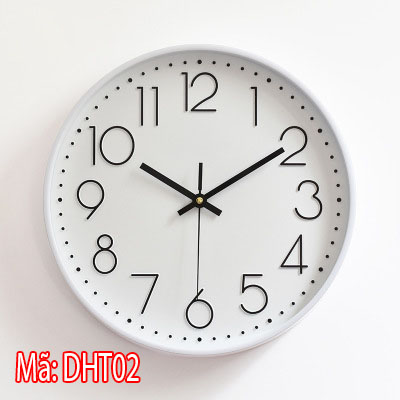 đồng hồ treo tường đơn giản mã DHT02