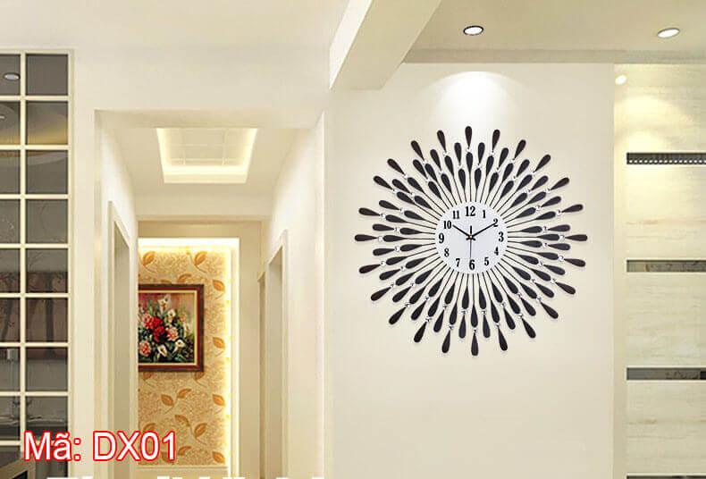 Đồng hồ treo tường DX01 cỡ lớn 70x70