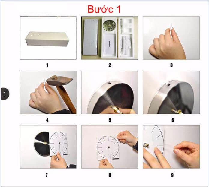 Cách lắp đồng hồ dán tường - Bước 1