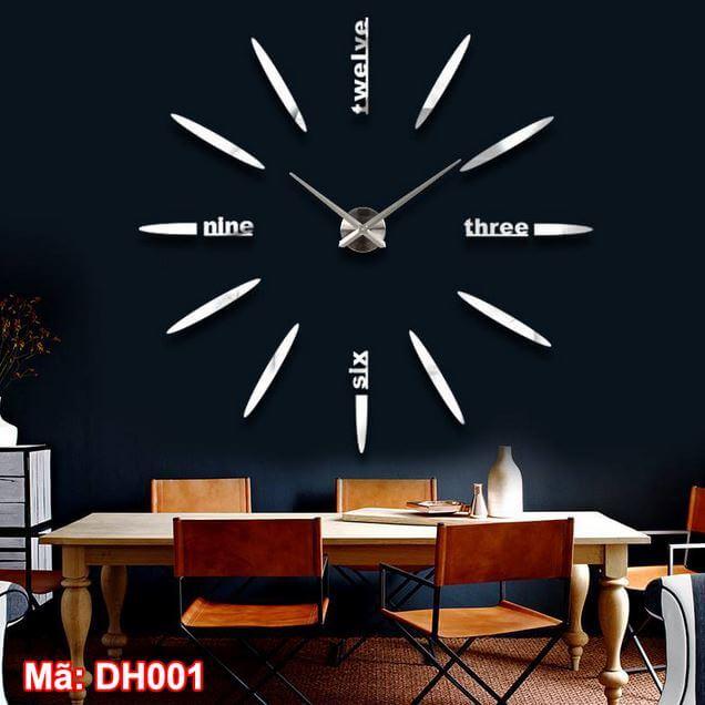 Đồng hồ dán tường mã DH001