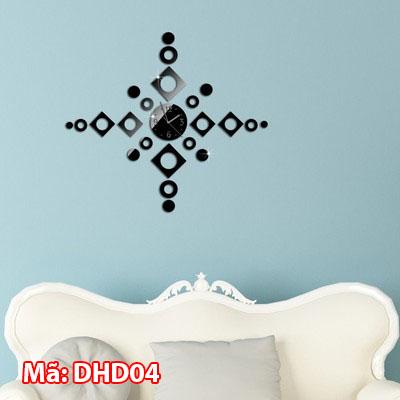 Đồng hồ dán tường khổ nhỏ DHD04