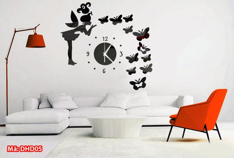 đồng hồ dán tường nhỏ xinh