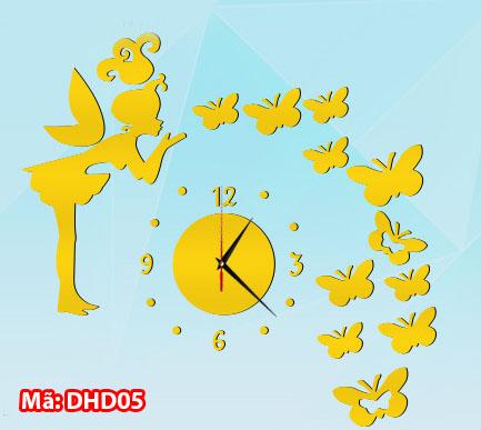 Đồng hồ dán tường mã DHD05
