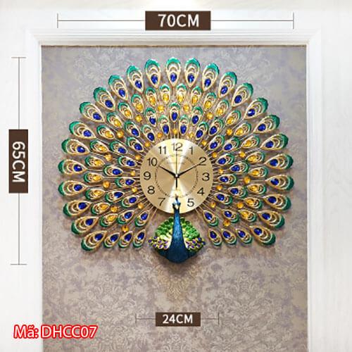 Đồng hồ trang trí cỡ 70x65cm