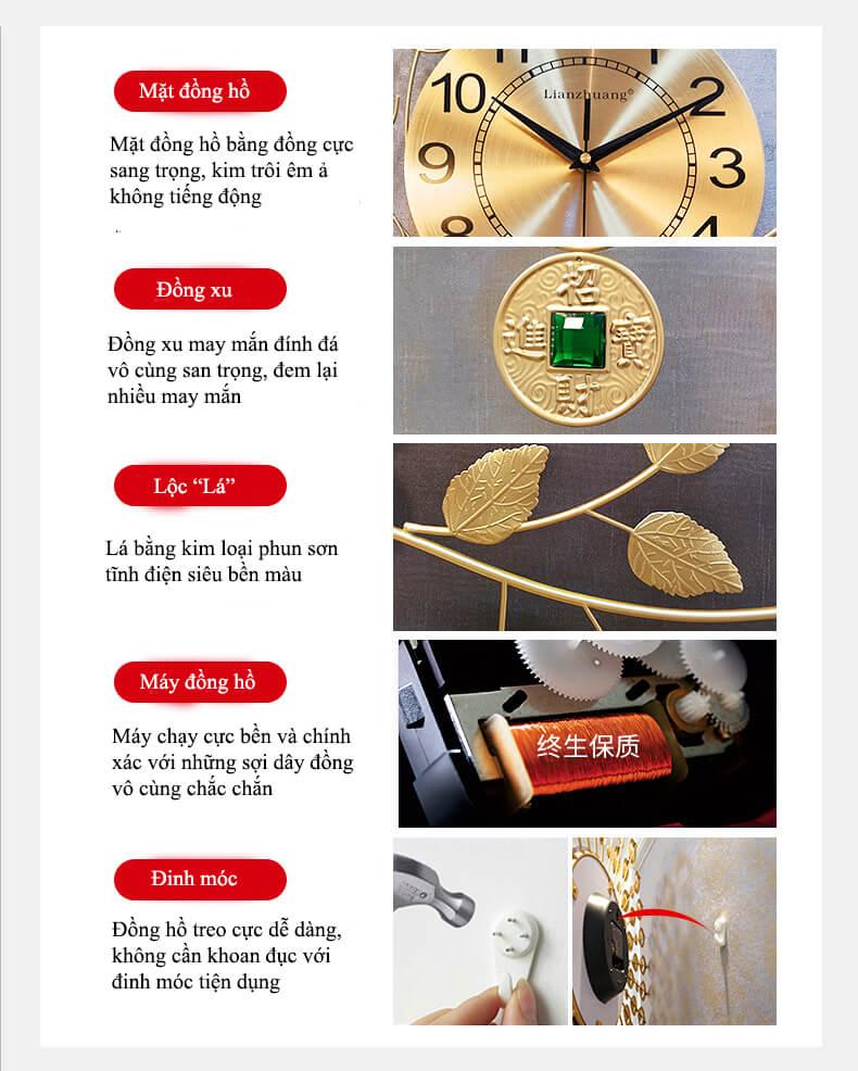 Chi tiết về đồng hồ trang trí DX12