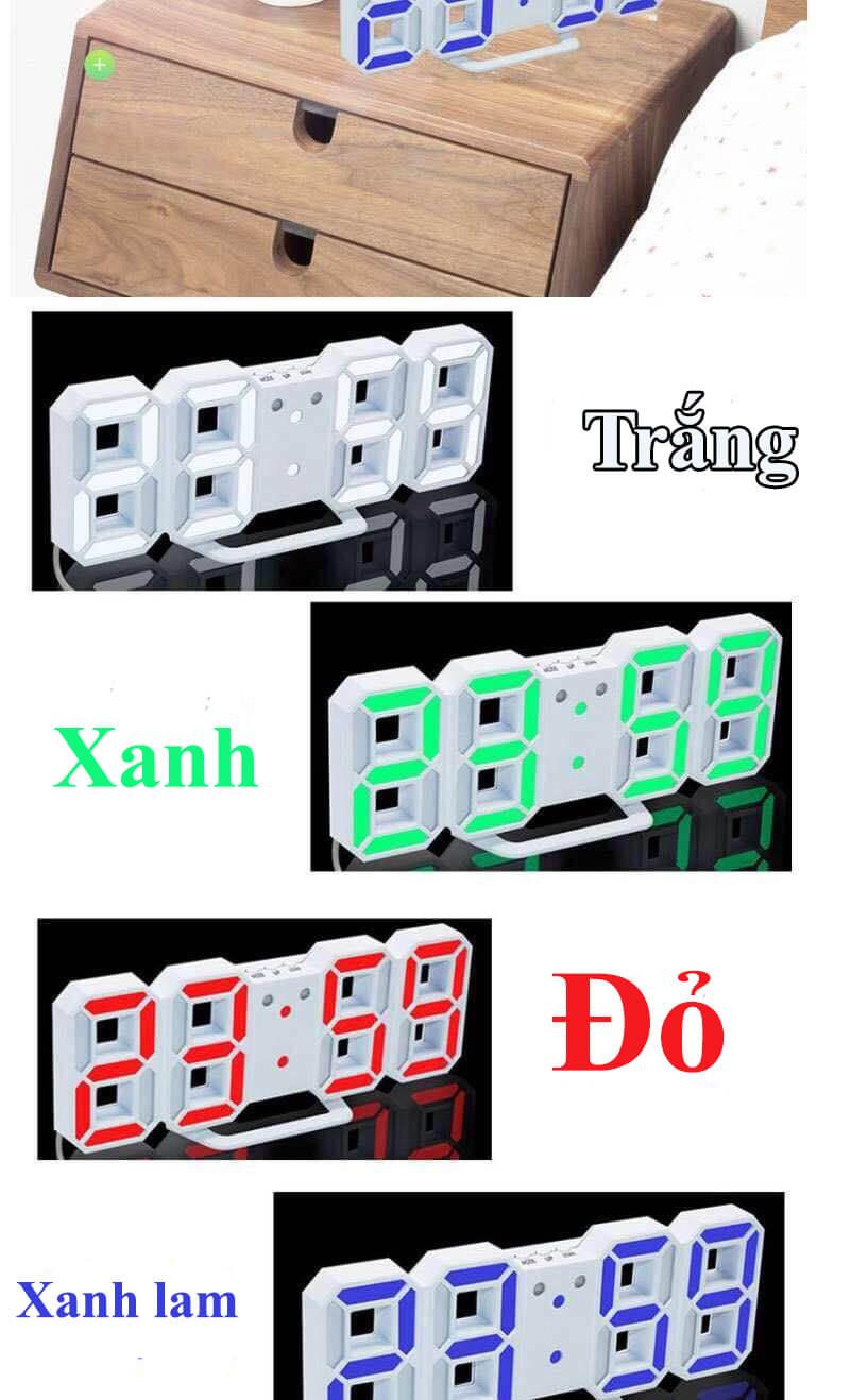 Đồng hồ LED để bàn DE02 cao cấp