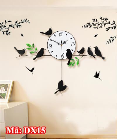 Đồng hồ Đàn chim sâu trên cành
