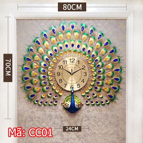 đồng hồ treo tường quy nhơn mã CC01