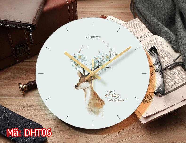 đồng hồ treo tường giá rẻ tại hải phòng mã DHT06