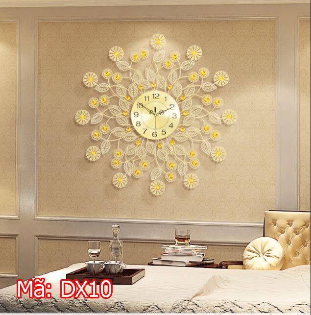 Đồng hồ treo tường cây hoa vàng