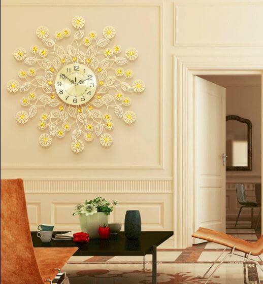 đồng hồ treo tường hình hoa đồng tiền