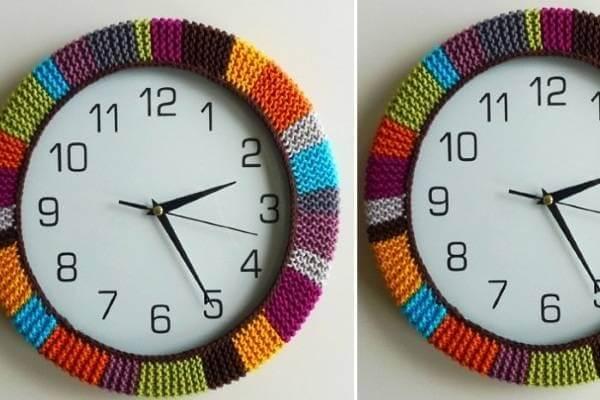 cách làm đồng hồ treo tường handmade