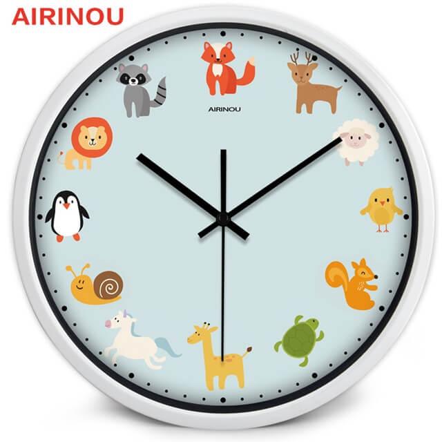 đồng hồ treo tường ngộ nghĩnh 12 con vật