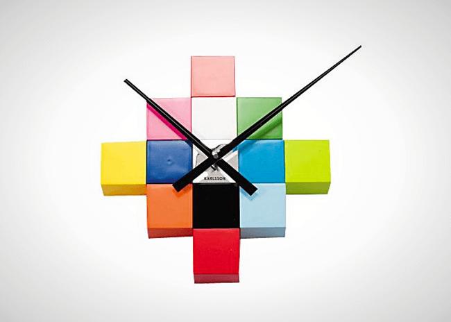làm đồng hồ treo tường bằng rubik