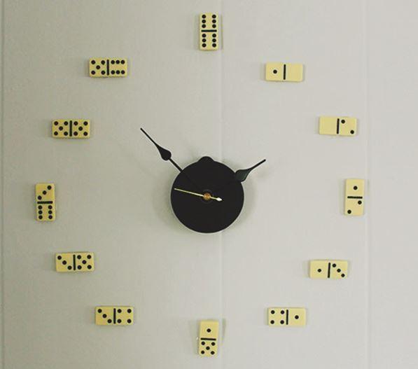 cách làm đồng hồ treo tường bằng cờ domino