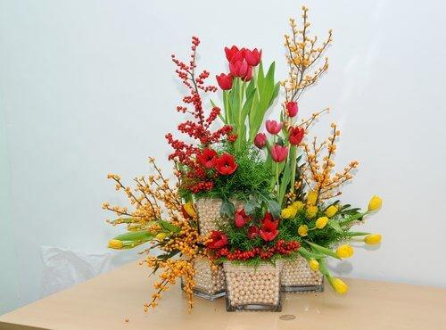 giỏ hoa làm quà tết cho cô giáo
