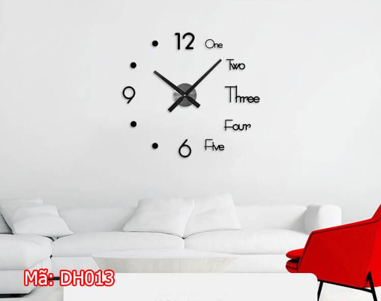 đồng hồ dán tường DH013 treo phòng khách