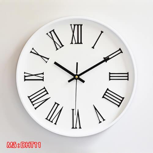 đồng hồ số la mã DHT11 màu trắng