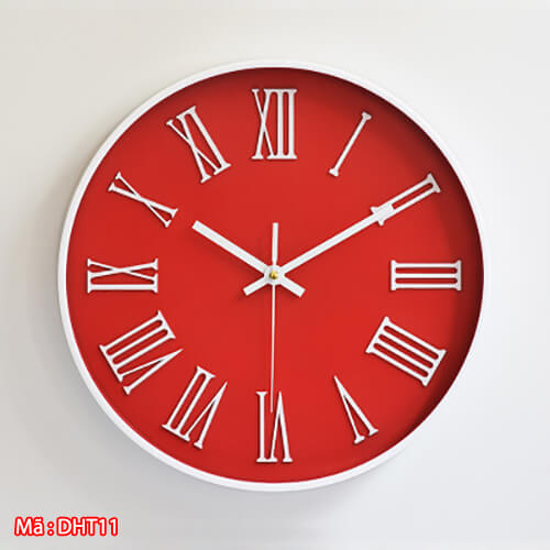 đồng hồ số la mã DHT11 màu đỏ