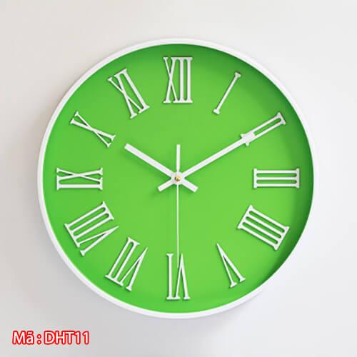 đồng hồ số la mã DHT11 màu xanh